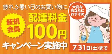 配達料金100円キャンペーン